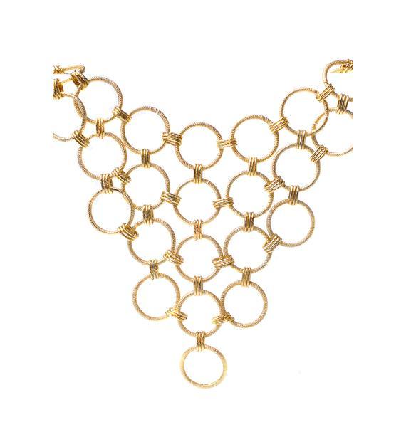 Vittrock Honeycomb Collar Necklace
