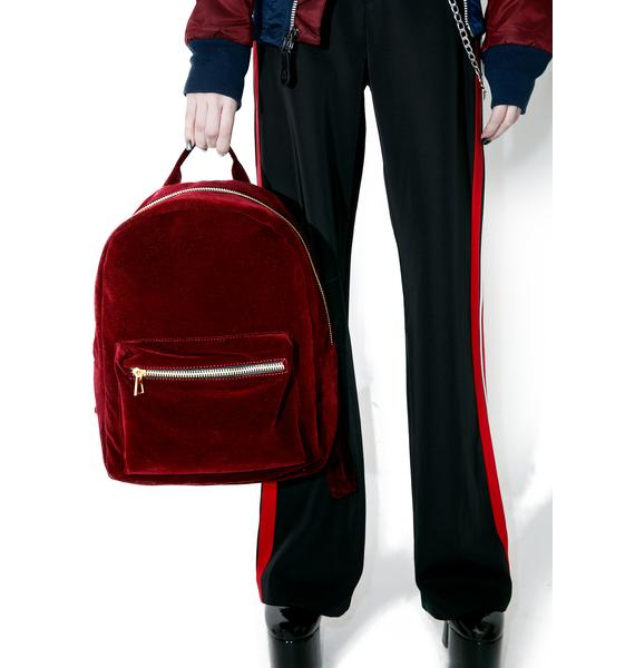 Blood Moon Velvet Backpack
