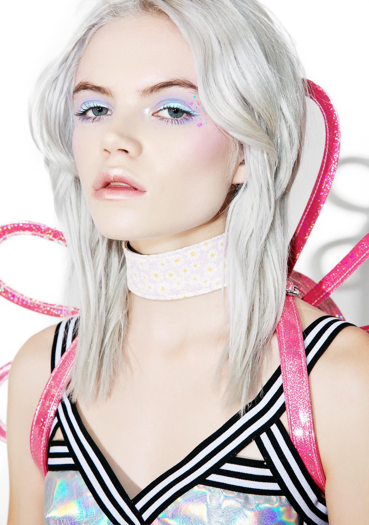 Club Exx Harmonious Lace-Up Choker