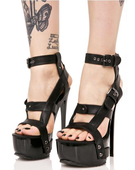 X Buckled Heels