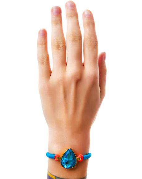 Tara Turquoise Tear Drop Bolo Cord Bracelet