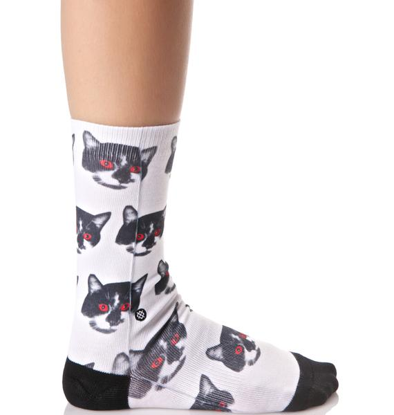 Stance Zombie Cat Tomboy Socks