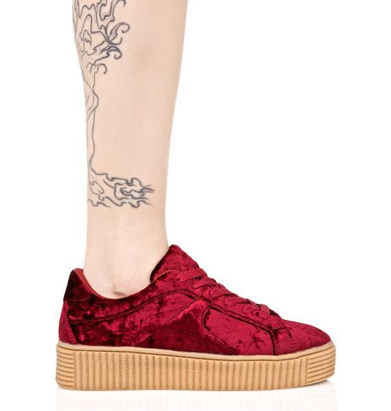 Crimson Doubt It Creeper Sneakers