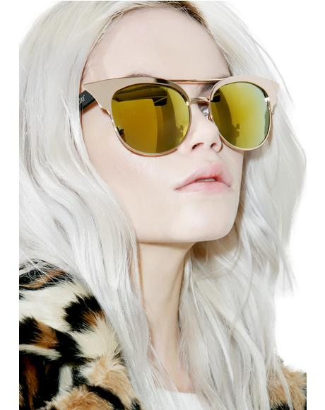 Gold Zig Sunglasses