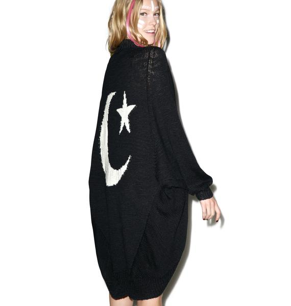 Wildfox Couture Moon Stars Cocoon Cardigan