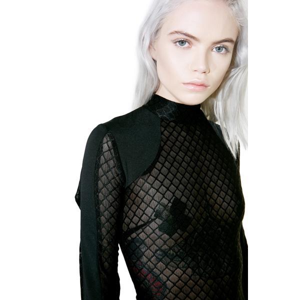 Glamorous Diamantis Mesh Bodysuit