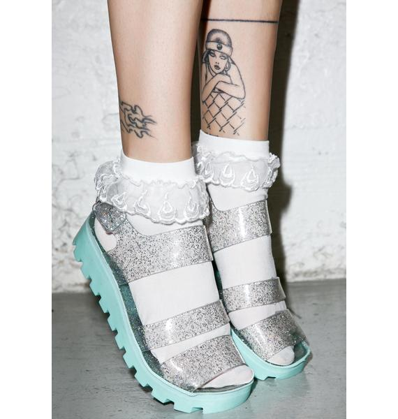 Juju Shoes Aqua Poppy Jelly Sandals