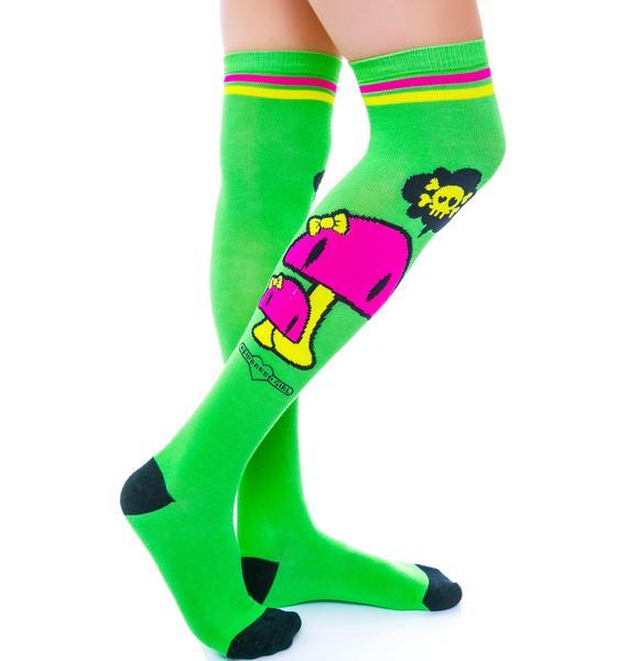 Happy Mushroom Socks