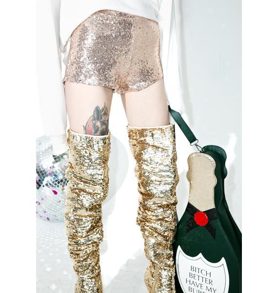 Fizzy Feelins Sequin Shorts
