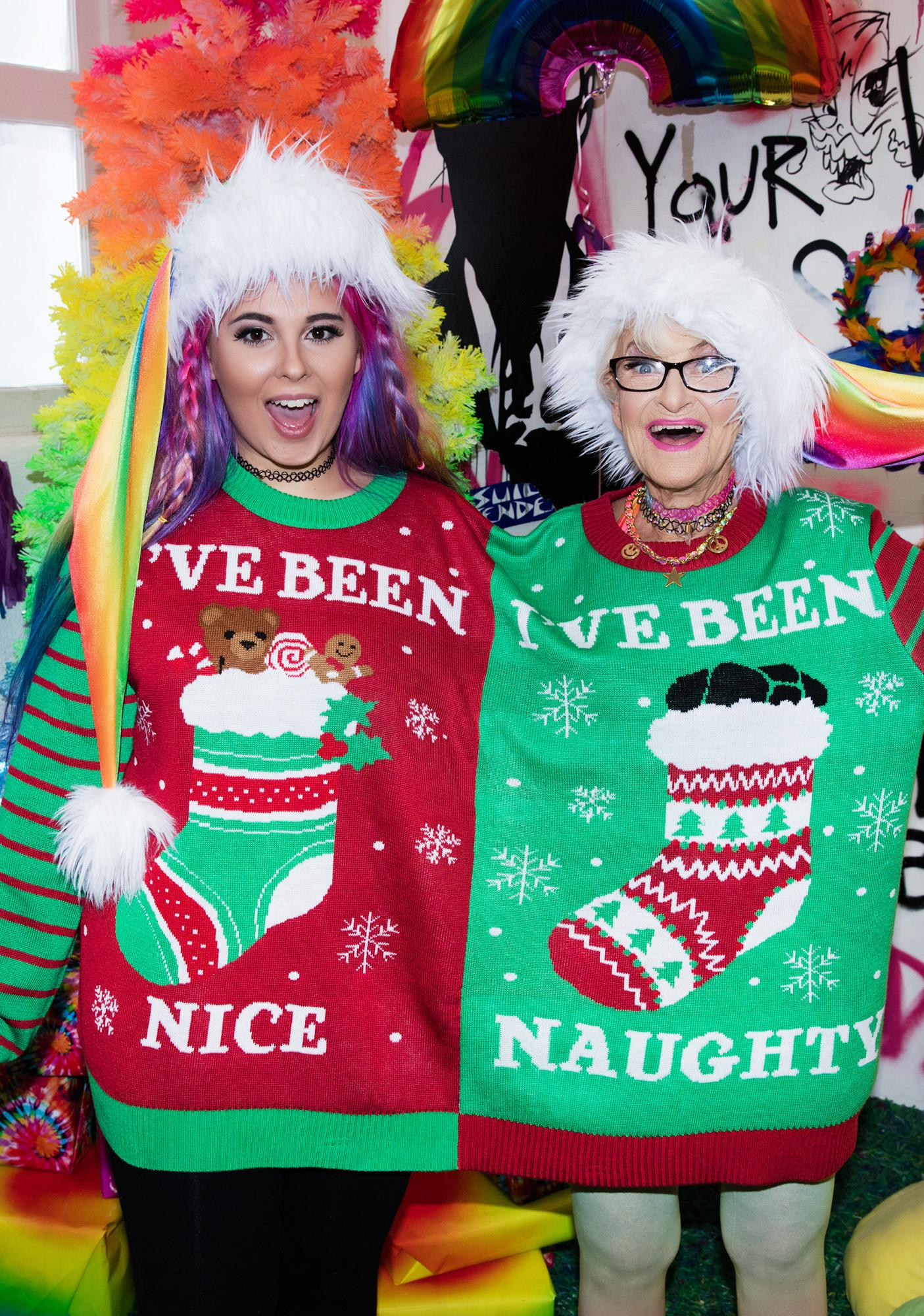 Tipsy Elves Naughty & Nice Two-Person Sweater