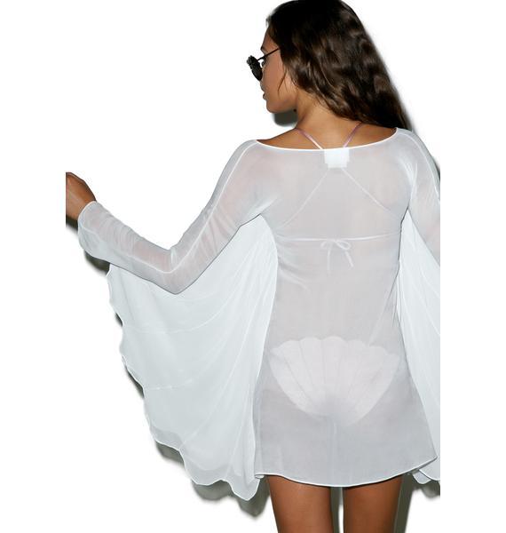 Margarita Mermaid Shell Wings Sheer Dress