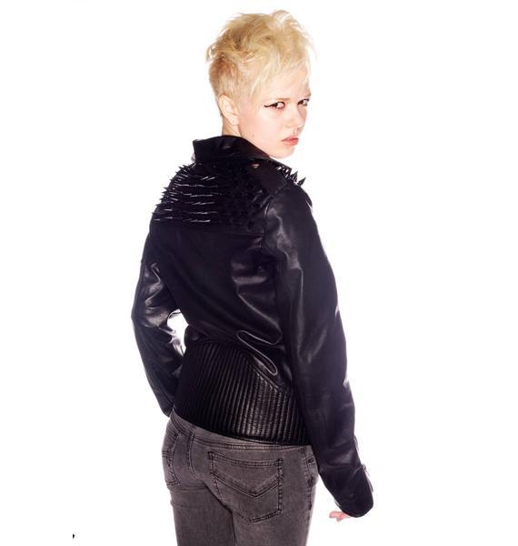 UNIF Leather Studded Rider Jacket