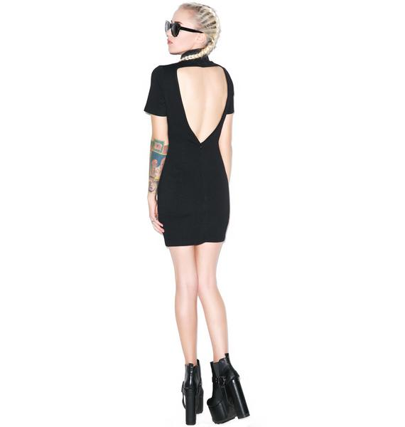 BLQ BASIQ Mini Open Back Dress