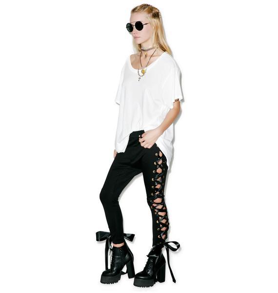 One Teaspoon Black Swan Pants