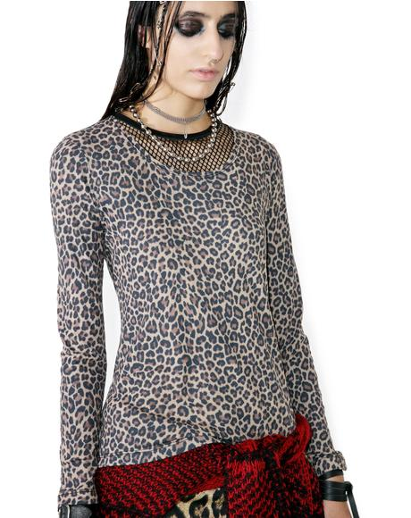Animal Instinct Mesh Top