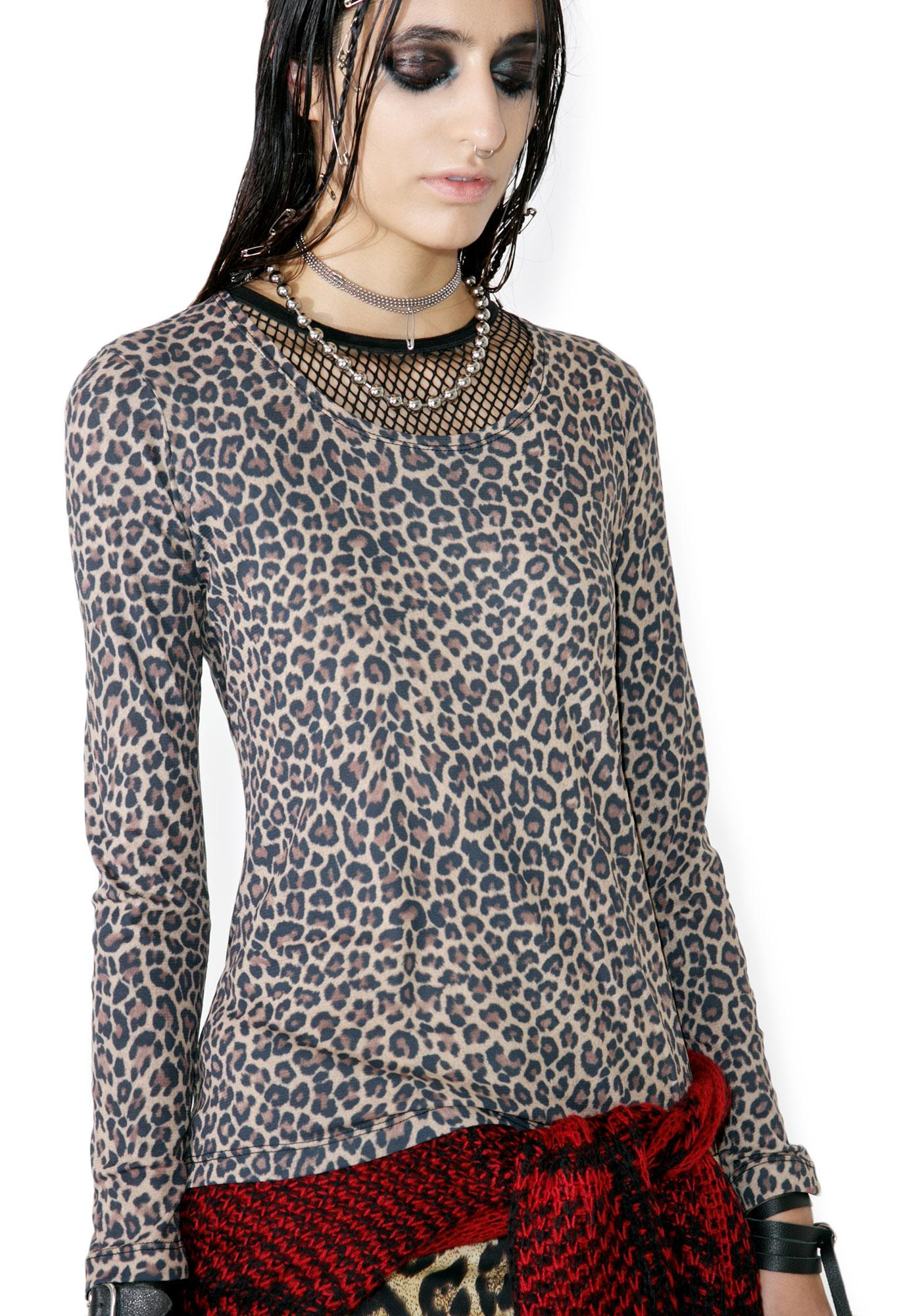 Tripp NYC Animal Instinct Mesh Top