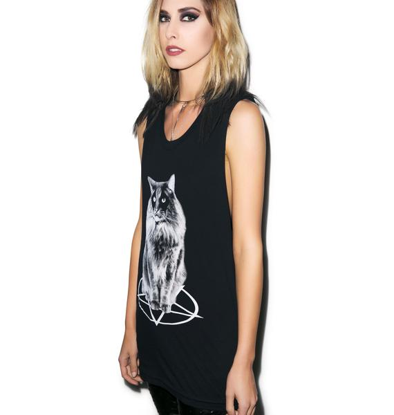 Forest Cat Cropped Loose Crew