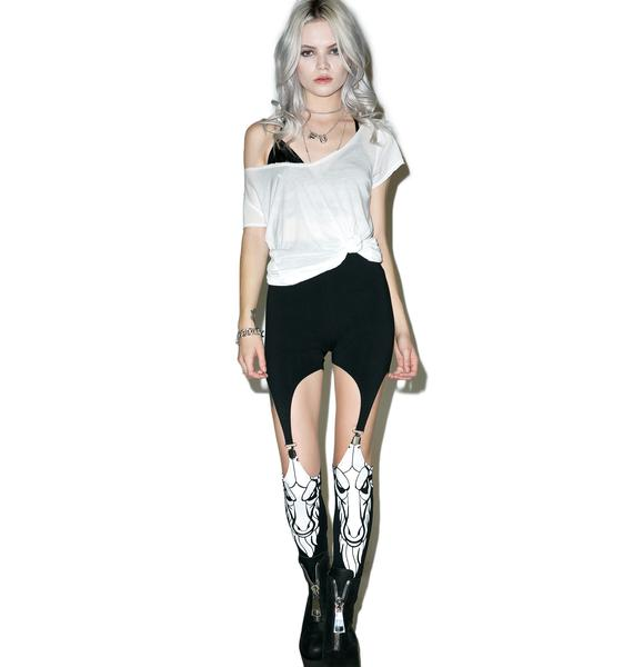 Killstar Killing It Suspender Leggings