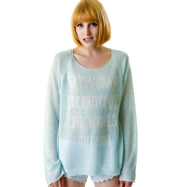 Wildfox Couture Salty Hair Penny Lane Sweater