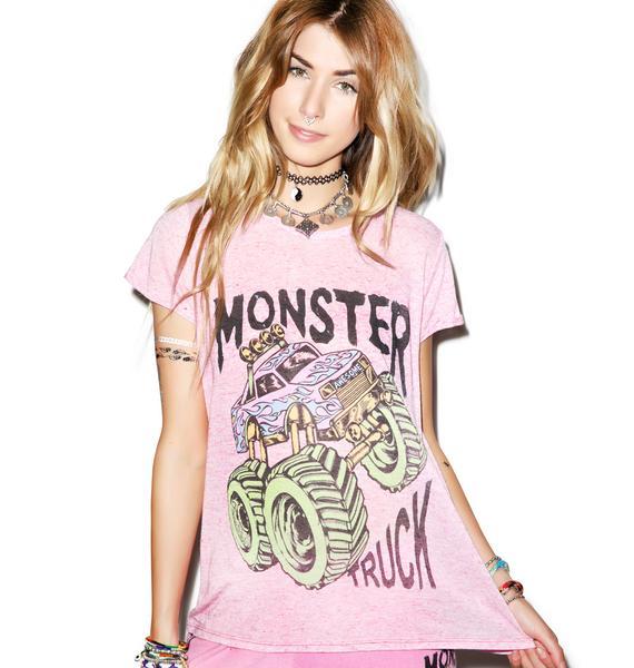 Lauren Moshi Edda Vintage Neon Monster Truck Tee