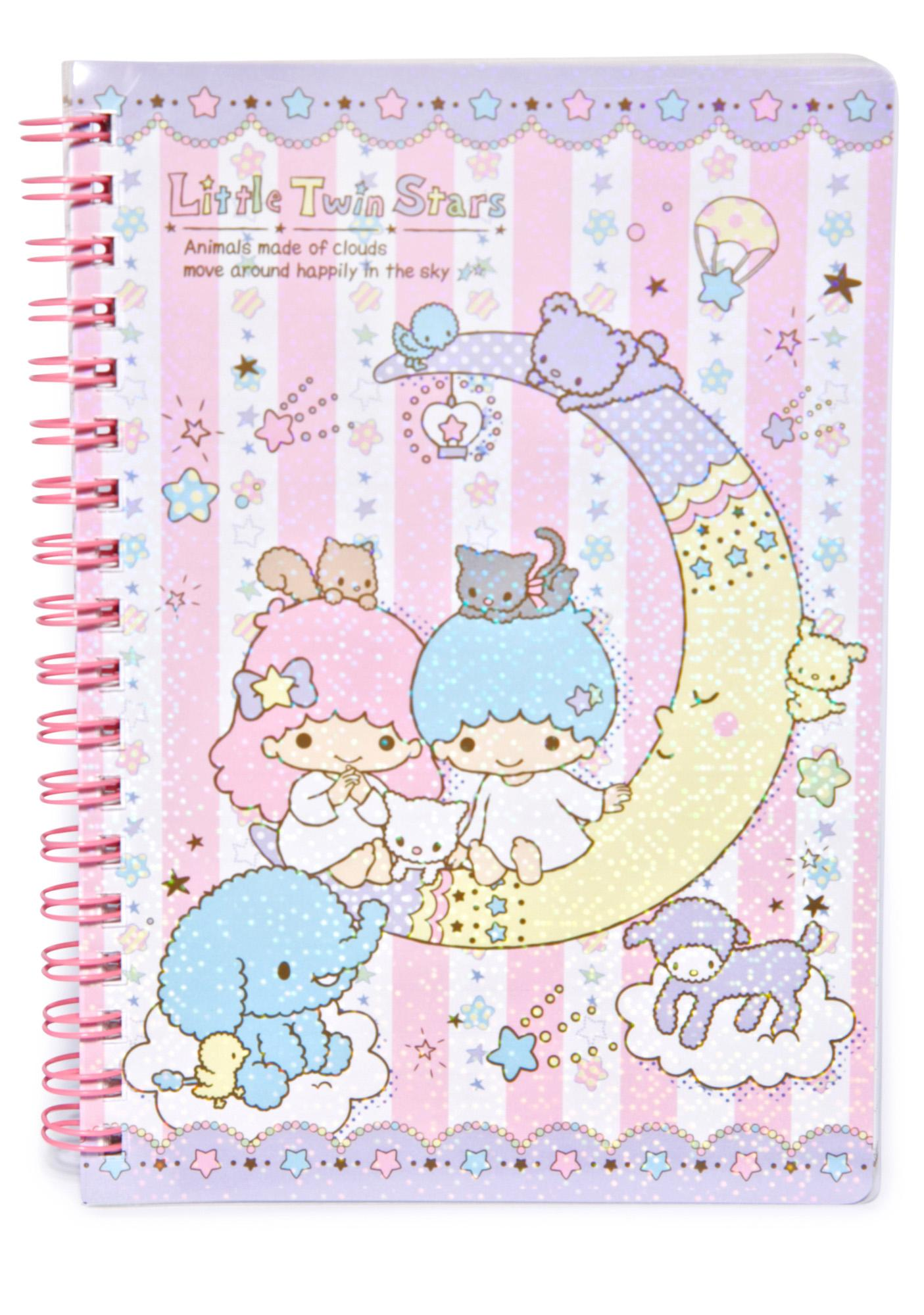Sanrio Little Twin Stars Spiral Notebook