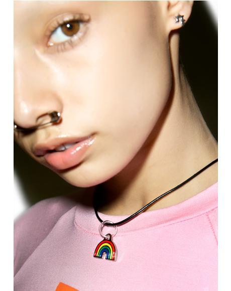 90s Rainbow Choker