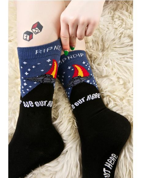 Spaceship Socks