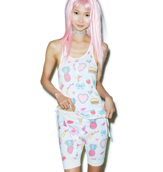 Wildfox Couture Emoji Print Angelino Tank