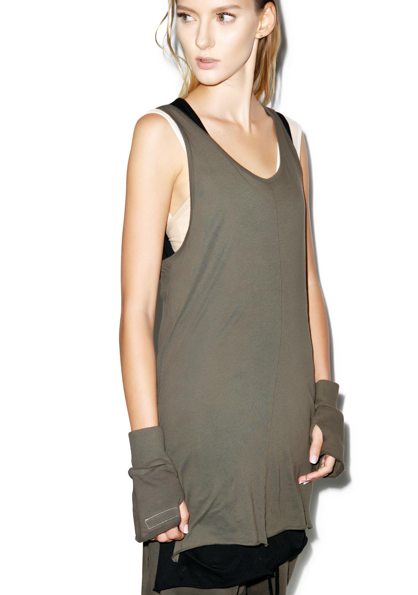 Knomadik Army Trail Tank Dress