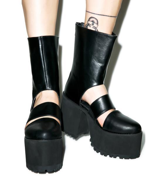 Y.R.U. Moon Wolf Platform Boots