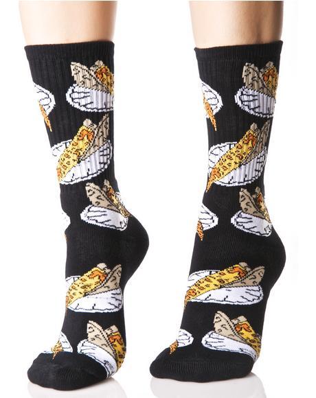 Pizza Slice Crew Socks
