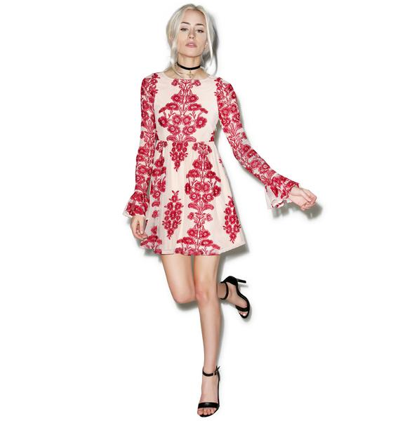 For Love & Lemons Temecula Wine Mini Dress