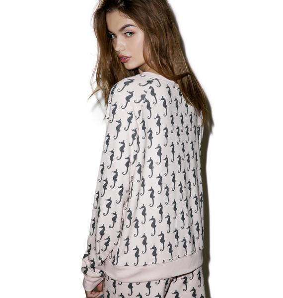All Things Fabulous Sea Horses Cozy Sweatshirt