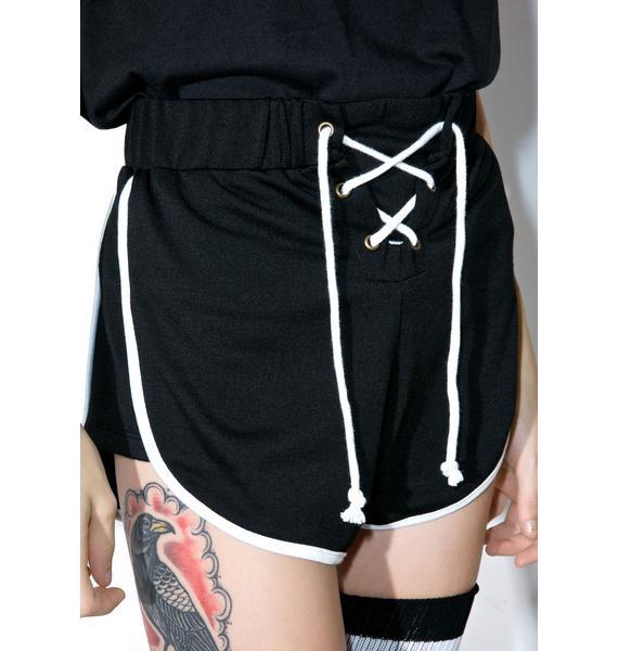 Camp Collection X Dolls Kill Land Sport Shorts