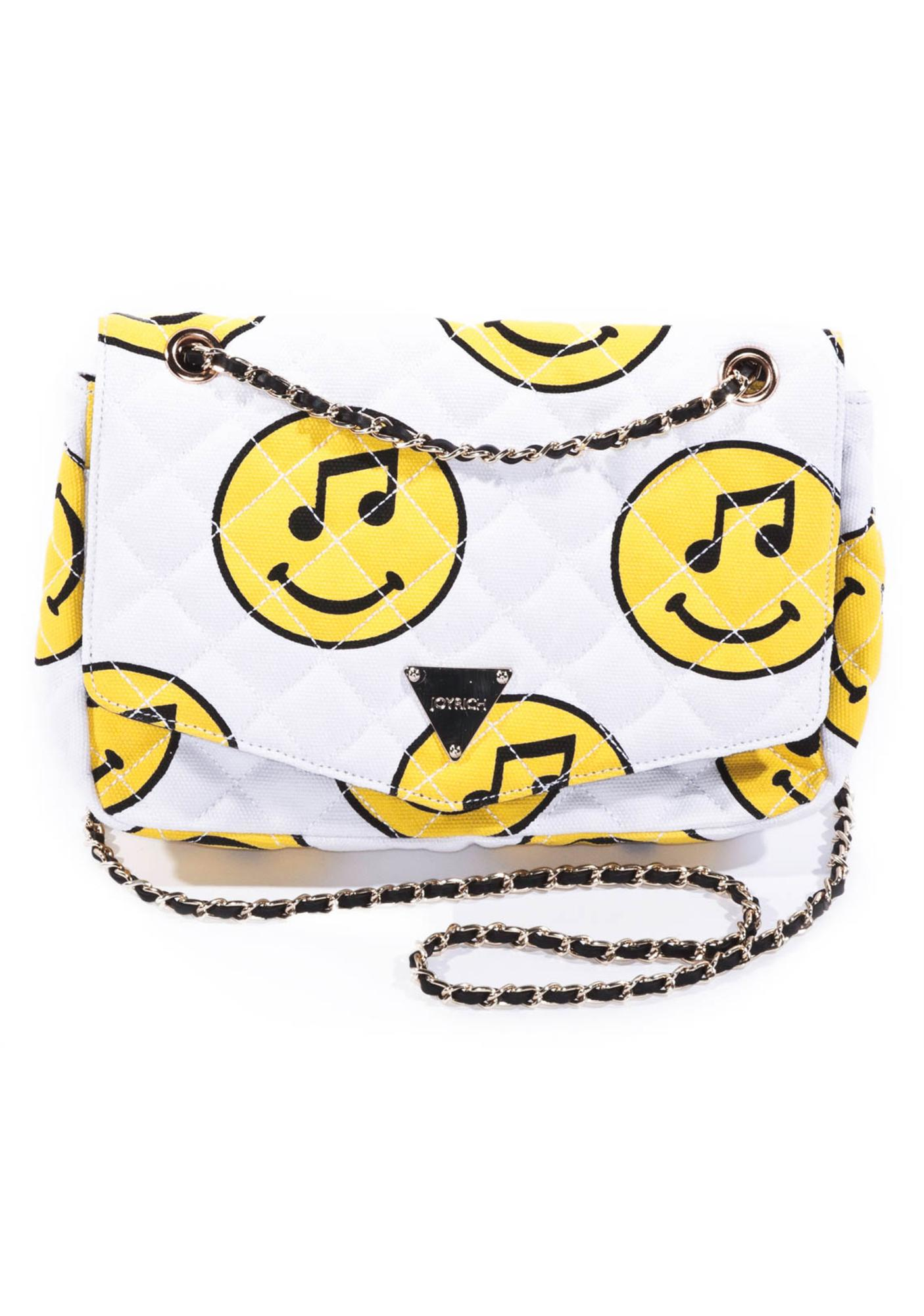 Joyrich Music Face Quilted Chain Purse