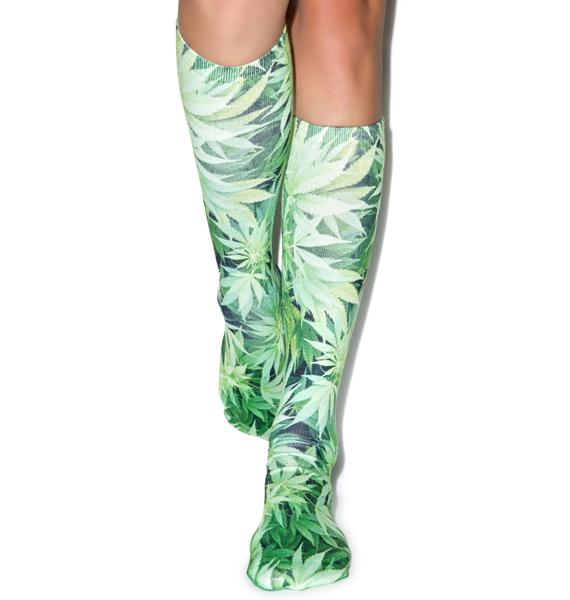 Keepin' It Kush Knee High Socks