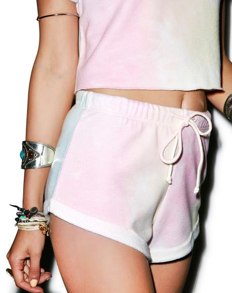 Dream Tie Dye Gym Short Shorts