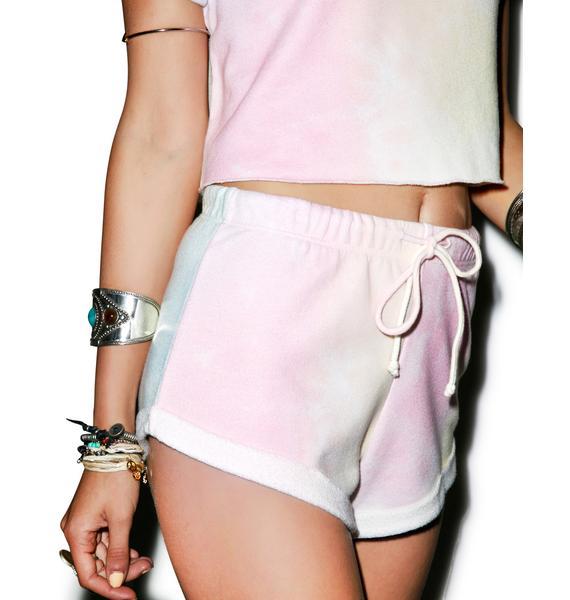 Wildfox Couture Dream Tie Dye Gym Short Shorts
