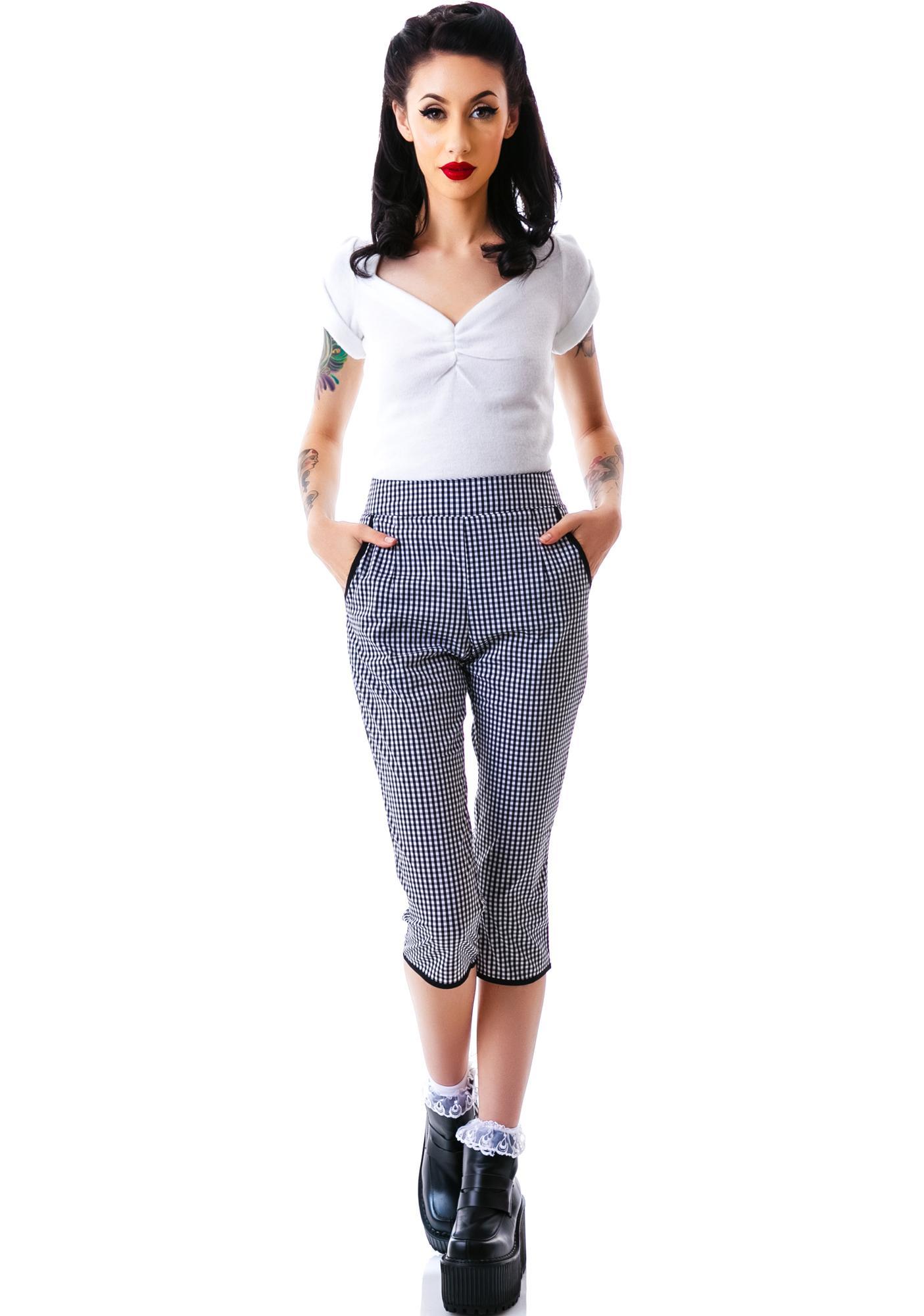 Sourpuss Clothing Lucy Gingham Capris