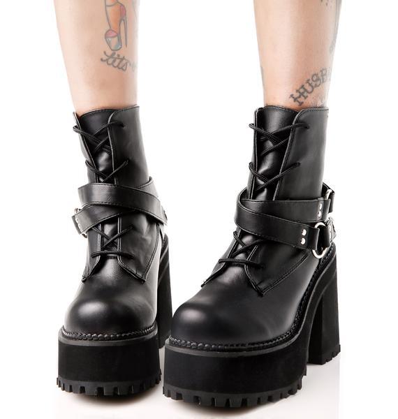 Demonia Reign Of Terror Platform Boots