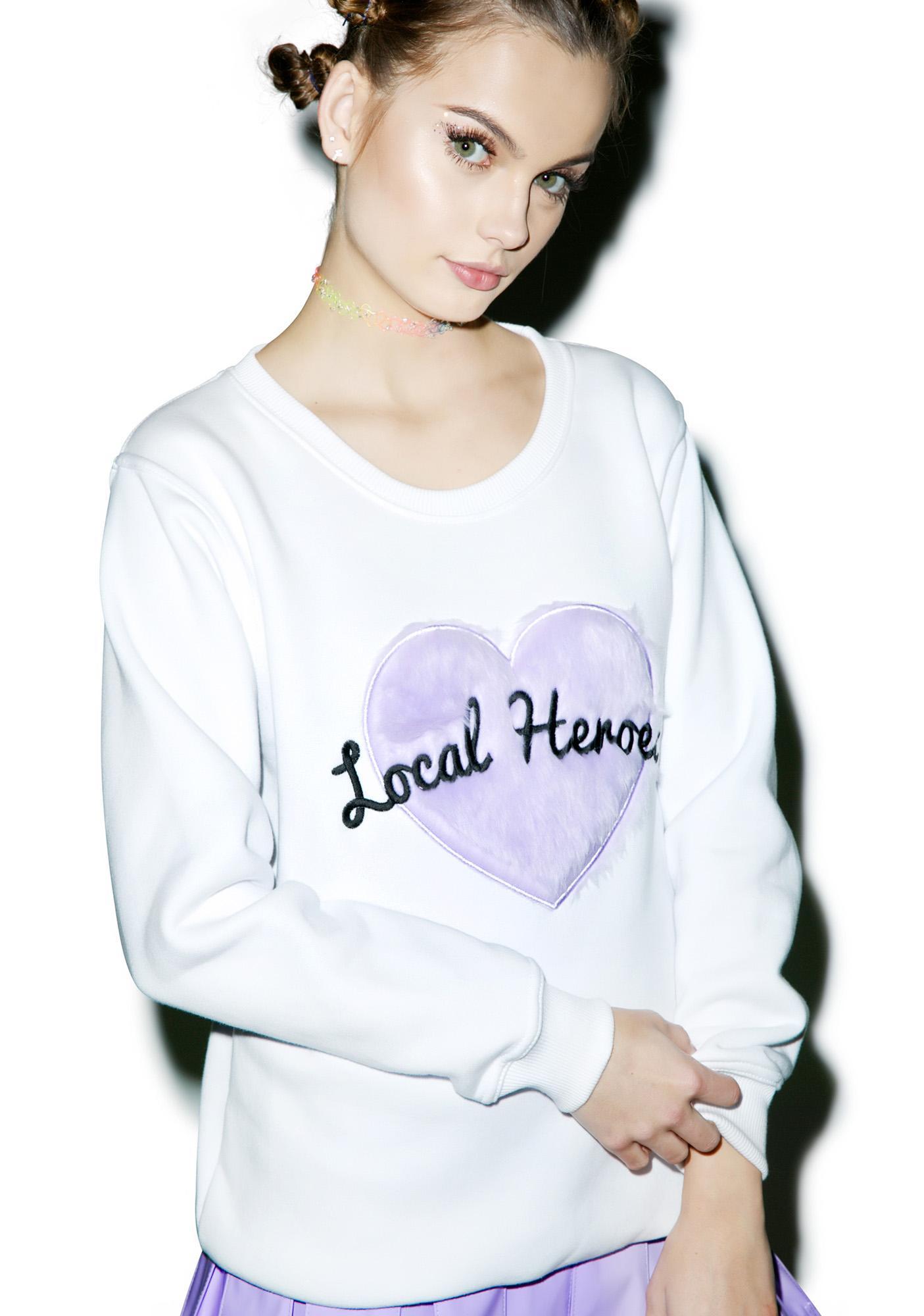 Local Heroes Fur Heart Sweatshirt