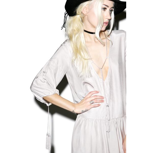 For Love & Lemons Monterey Sand Mini Dress