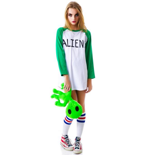Lazy Oaf Aliens Baseball Tee