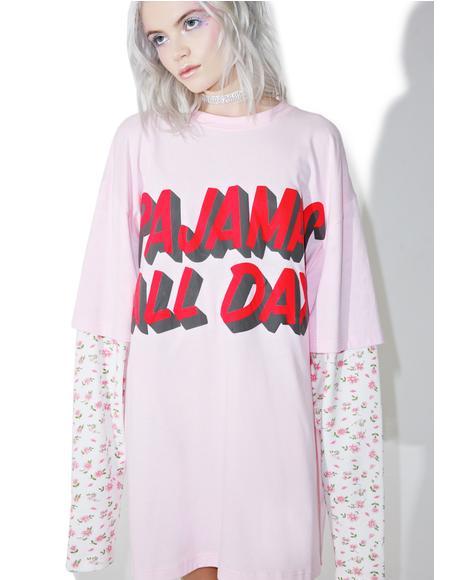 Pajamas All Day Layered Tee