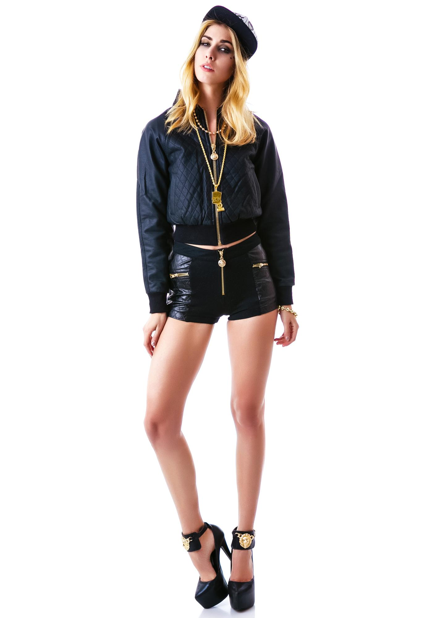 24HRS Classy Like Versayce Quilted Shorts
