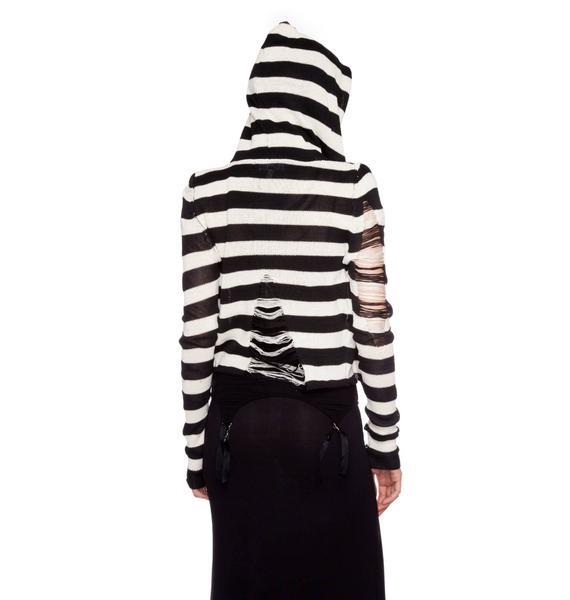 Lip Service Fashion Victim Tattered Sweater Hoodie