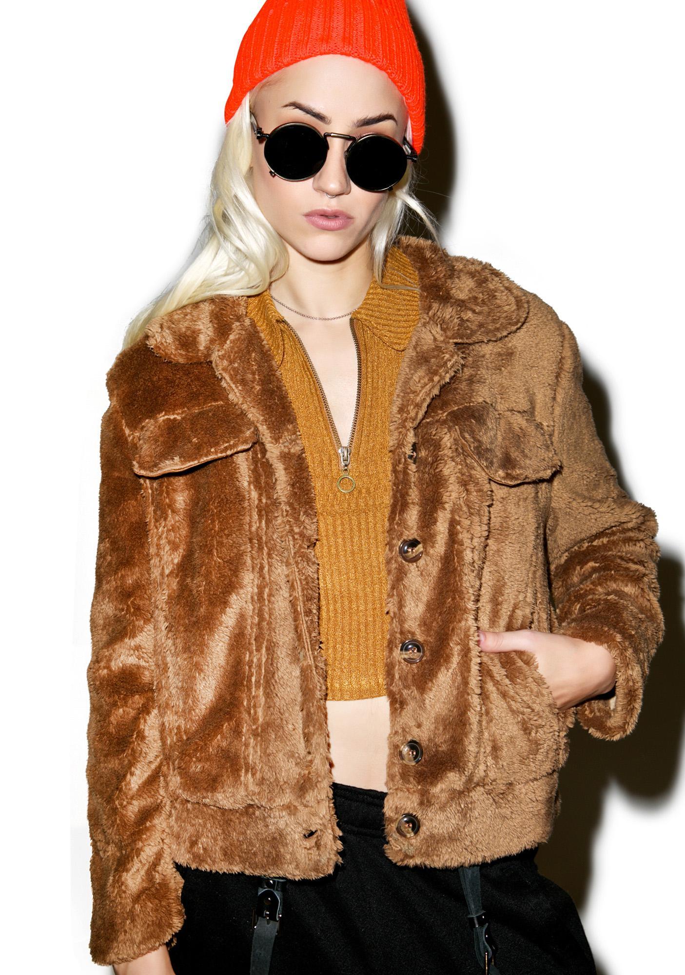 Honey Bear Moto Jacket
