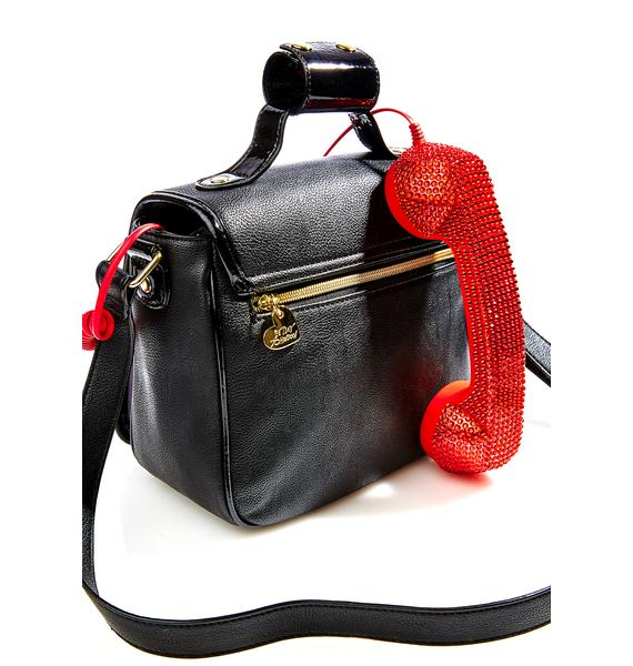 Betsey Johnson Ruby Hotline Crossbody Bag