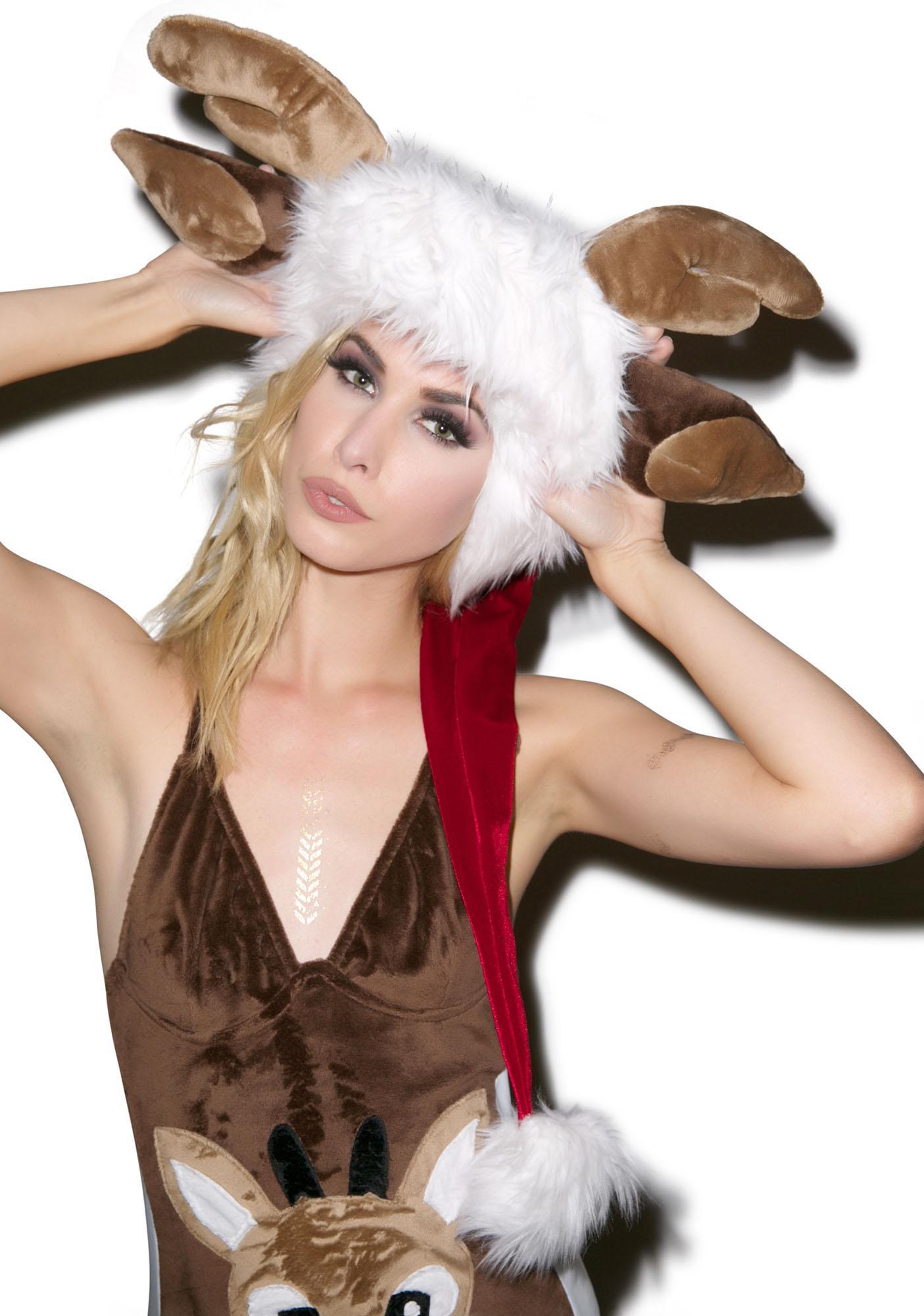 J Valentine Deluxe Reindeer Hat