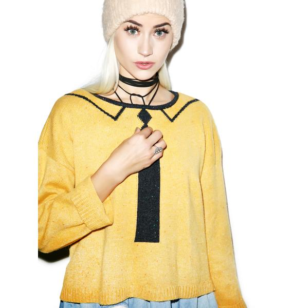 Wildfox Couture Vintage Tie Dinner Party Sweater